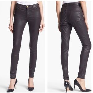 NWT Current/Elliot Coated Stiletto Skinny Jeans